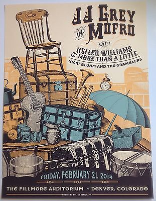 JJ Grey Mofro, Keller Williams, Nicki Bluhm Official Poster Denver CO Fillmore