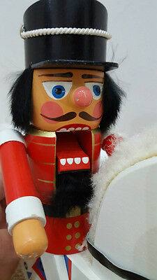 German Wood Soldier Pirate Nutcracker on a cannon ball Christmas Decoration