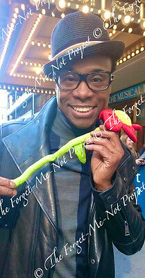 BILLY PORTER (Shuffle Along, Kinky Boots) photo & signed card CHARITY AUCTION