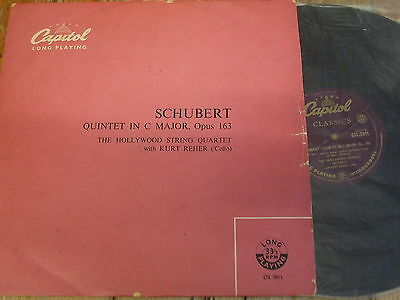CTL 7011 Schubert Quintet in C major / Hollywood Quartet / Reher P/G