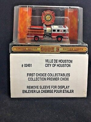 Texas Houston E-38 Code 3 Fire Engine 1/64 Seagrave Pumper Trk Canadian Edition