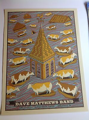 DAVE MATTHEWS BAND POSTER PRINT - NOBLESVILLE, IN 6/22/13 Deer Creek DMB Methane