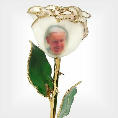 24k Gold Dipped Rose with Pope Francis Image (Free Valentine's Day Gift Box)