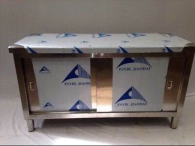 Commercial Kitchen Stainless Steel Catering Floor Cupboard 5ft 1500x600 Brandnew
