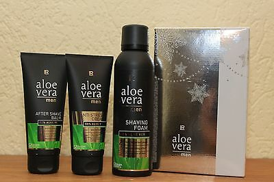 LR Aloe Vera Men Set Rasierschaum After Shave Anti Stress Creme   Set 1 Aktion