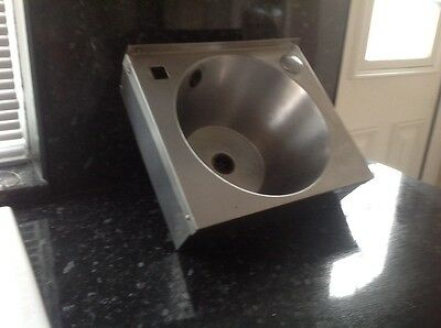 stailess steel hand wash sink, for use in the food industry.
