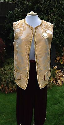 Pantomime Theatre Costume King, Prince, Squire Or Regal Breeches And Waistcoat