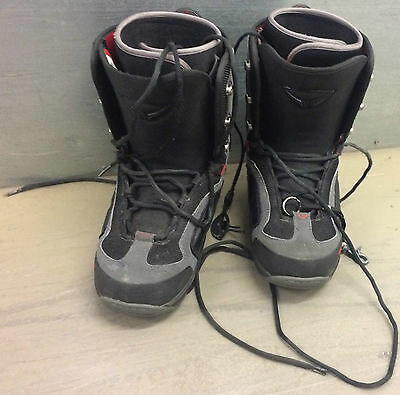 Snowboard Boots Sp Ewil Uk 9 Black & Grey With Red Inners