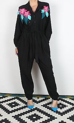 Jumpsuit UK 16 XL approx. 1980's 80's  All in one Vintage (KAI)
