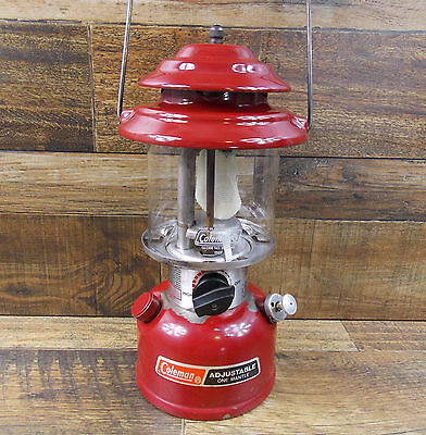 Vintage Coleman 286A Single Mantle Red Lantern Dated 3/89 Tested Rare
