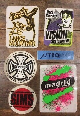 Rare Skate Sticker Decal Collection 80s (6 Stickers)