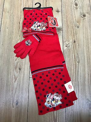 Disney Hat Scarf And Gloves Age 6 BNWT