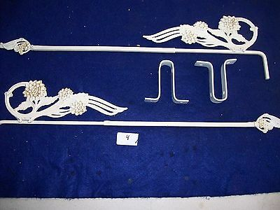 Vintage-Antique-Old- Cast Metal  Swing A Way Drapery -Curtain Rods