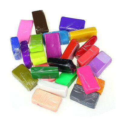 24Pcs Malleable Fimo Polymer Modelling Soft Clay Blocks Plasticine DIY Tool Gift