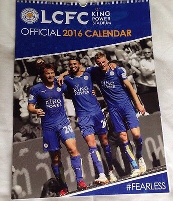 2016 Champions Leicester City Official Calendar (New).