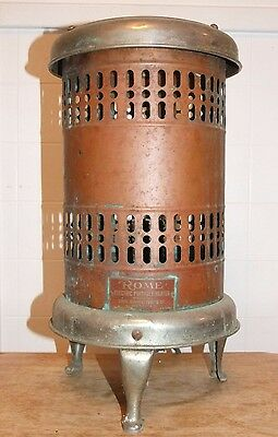 """Antique/Vintage ROME Electric Portable HEATER, Metal, 18"""" Tall"""