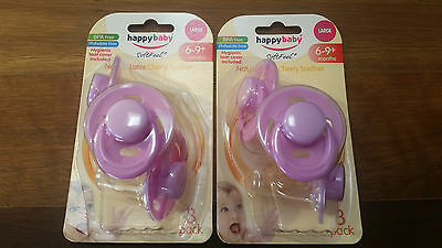 Old original style 6-9+ months Happy Baby cherry dummy soother
