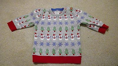 Baby Christmas jumper Mamas and Papas 0-3 months