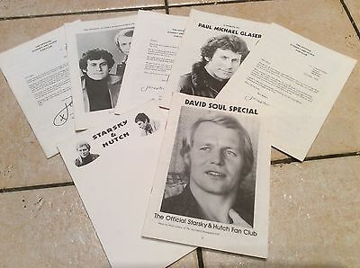 The Official STARSKY & HUTCH Fan Club ~ 1970's NEWSLETTERS & Notepaper