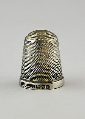 Olney, Amsden & Sons Sterling 925 silver Chester size 16 thimble 1901.