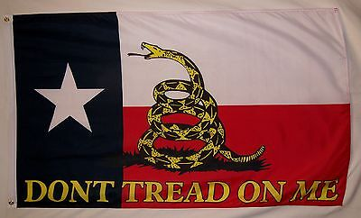 Texas Don't Tread On Me Flag 3' x 5' Gun Rights Tea Party Historical Banner