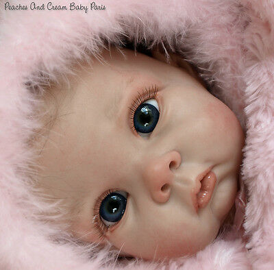 "New Reborn Baby Doll Kit Chrissy By Elly Knoops @20"" @with Cloth Body"