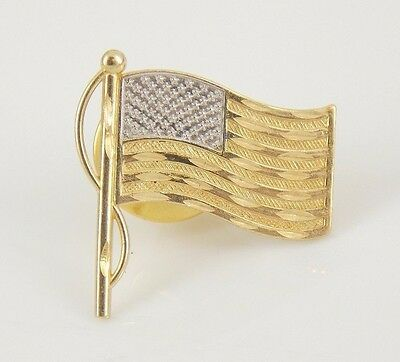 Michael Anthony 14k Yellow Gold God Bless America Pin / Tie Tack