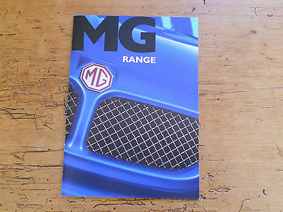 MG Car Range Brochure (#5954) 2002 - great condition