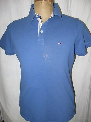Tommy Hilfiger Mens Polo Shirt Size Small Slim Fit Fantastic Blue Excellent