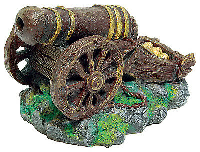 Sunken Ships Cannon Aquarium Ornament Fish Tank Decoration