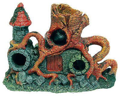 Middle Earth Root Tower Aquarium Ornament Fish Tank Decoration
