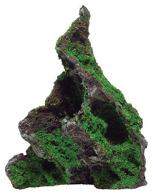 Rock with Moss Aquarium Ornament Fish Tank Decoration