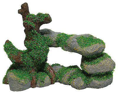 Pebbles with Root and Moss Aquarium Ornament Fish Tank Decoration