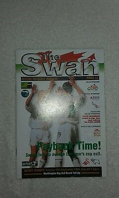 Swansea City V Derby County 14Th September 1999 League Cup Round 2 1St Leg
