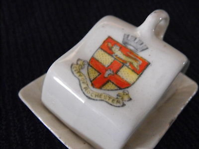 Crested Ware cheese dish City of Rochester