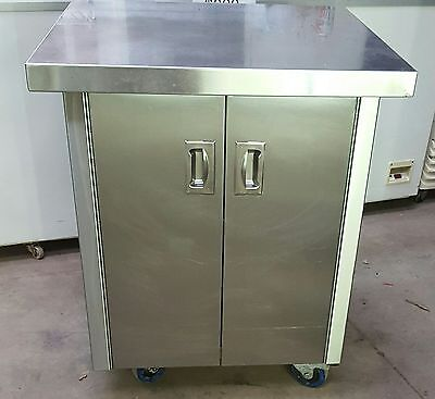 stainless steel bench + cupboard