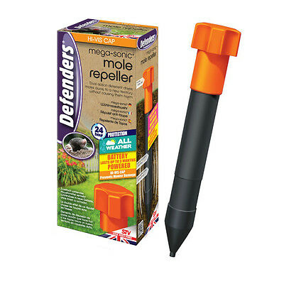 Defenders Advanced Mega Sonic Mole Repeller Battery Powered Repellent Hi-vis