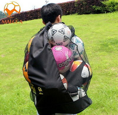 Football Netball Rugby Basketball Soccer 20 Ball Carry Sack Hold Bag Net Y ぴ