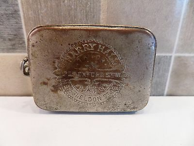 RARE 19thC PLATED METAL VICTORIAN ADVERTISING VESTA CASE FOR HARRY HALL TAILOR