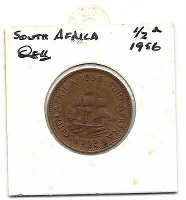 South African 1956 1/2d (halfpenny)  Coin F