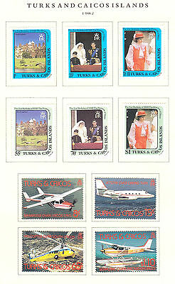 Turks & Caicos Collection - British Colonies - Years 1966 -1999 - Mint