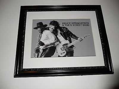 "Large Framed Bruce Springsteen Born to Run Clarence Clemons Poster 24"" by 20"""