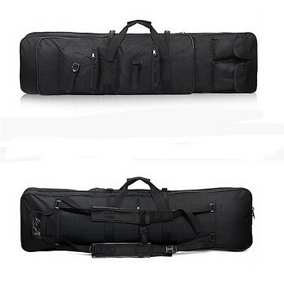 """Tactical 39"""" Padded For Fishing Rod Gun Carbine Rifle Weapons Case Bag Black"""