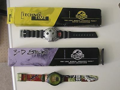 2 Burger King Jurassic Park THE LOST WORLD Watches