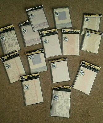 62 papermania greeting cards job lot pastel embellished worth £24