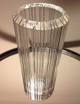 Tiffany & Co Crystal 'Atlas' Vase 8.75in High