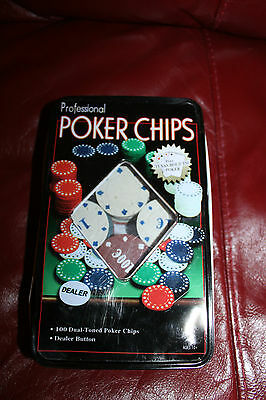 Professional Poker Chips Small Metal Tin Box - Damage To The Box