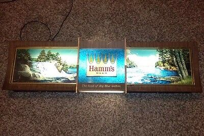 VINTAGE HAMMS BEER LIGHTED MOTION 1965 RIPPLER WATER WATERFALL SIGN *As-Is*