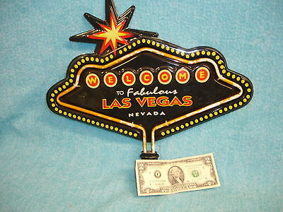 "CASINO, WELCOME TO FABULOUS LAS VEGAS NEVADA SIGN 15"" wide14"" tall"