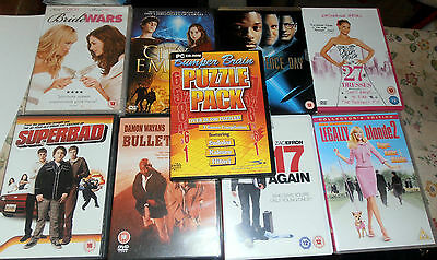 JOB LOT OF 8 X DVDs + 1X CD-ROM INDEPENDANCE DAY, 17 AGAIN, CITY EMBER, AND MORE